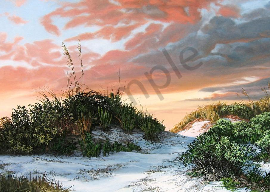 Beach Dunes with Sea Oats print  | Kevin Grass Fine Art