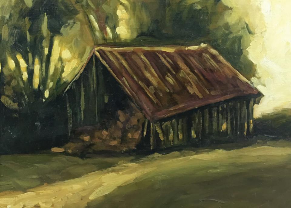 Hay Barn At Dusk Art   Geoffrey Butz Art & Design Inc