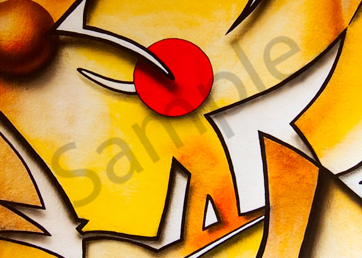 Red Dot Abstract Art | The Soap Gallery