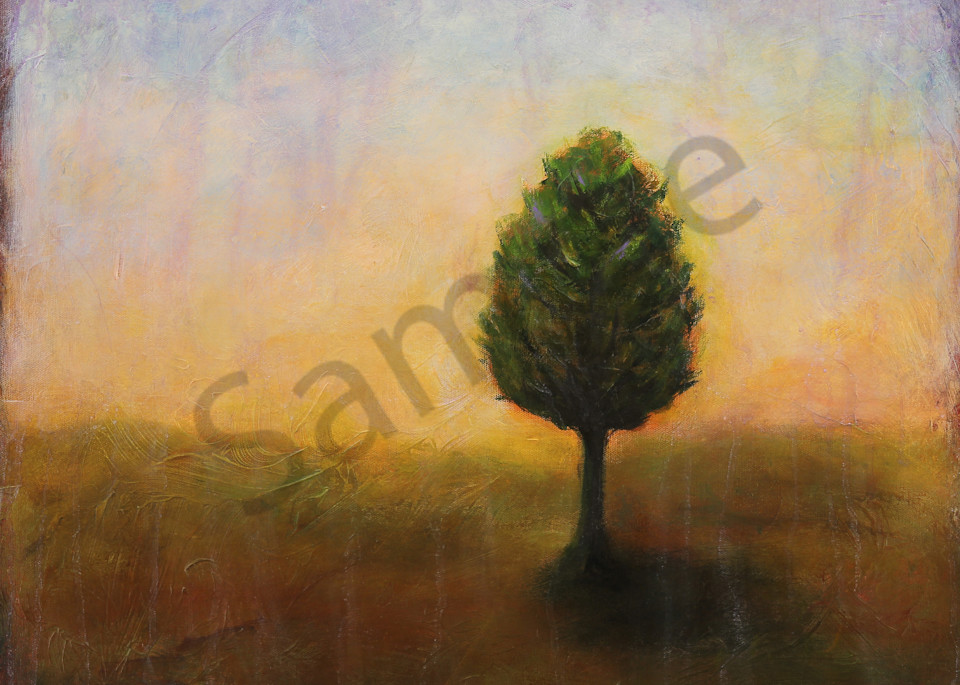 Early To Rise is an acrylic painted in soft morning colors. Art by Susan Kraft