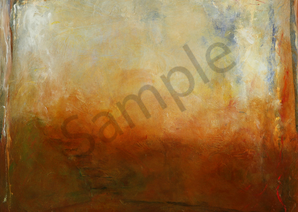 Choices is an acrylic painting in blue, rust, and earth-tones. Art by Susan Kraft