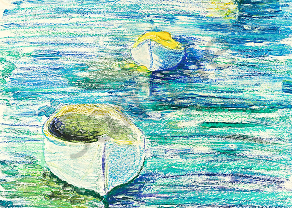 Three Boats print by Mary Anne Hill