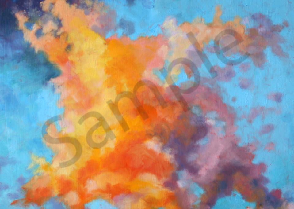 orange, purple, cloud