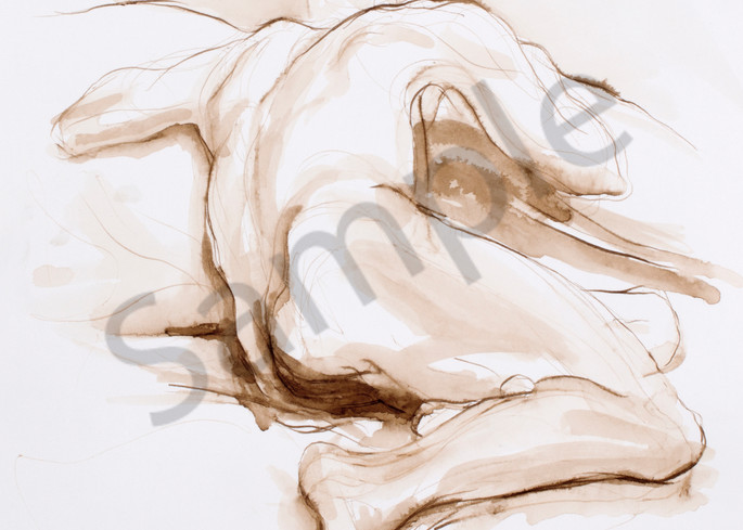 Male Back Figure Drawing Prints