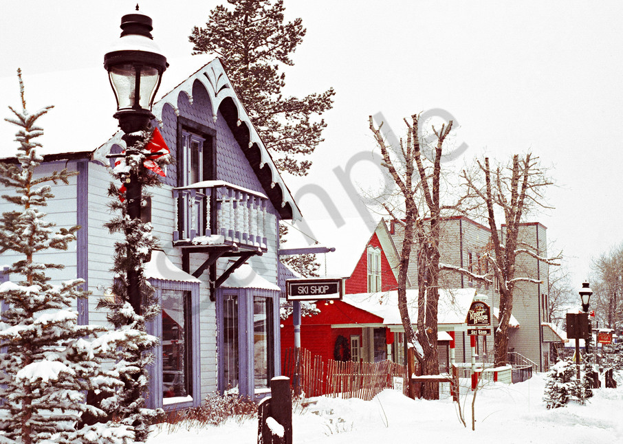 Fine Art photograph of the Knorr House Ski Shop in Breckenridge, Colorado around 1980
