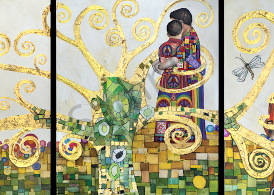 Designs by Teri | Teri Vereb Fine Art Paintings | Embracing Love | Klimt