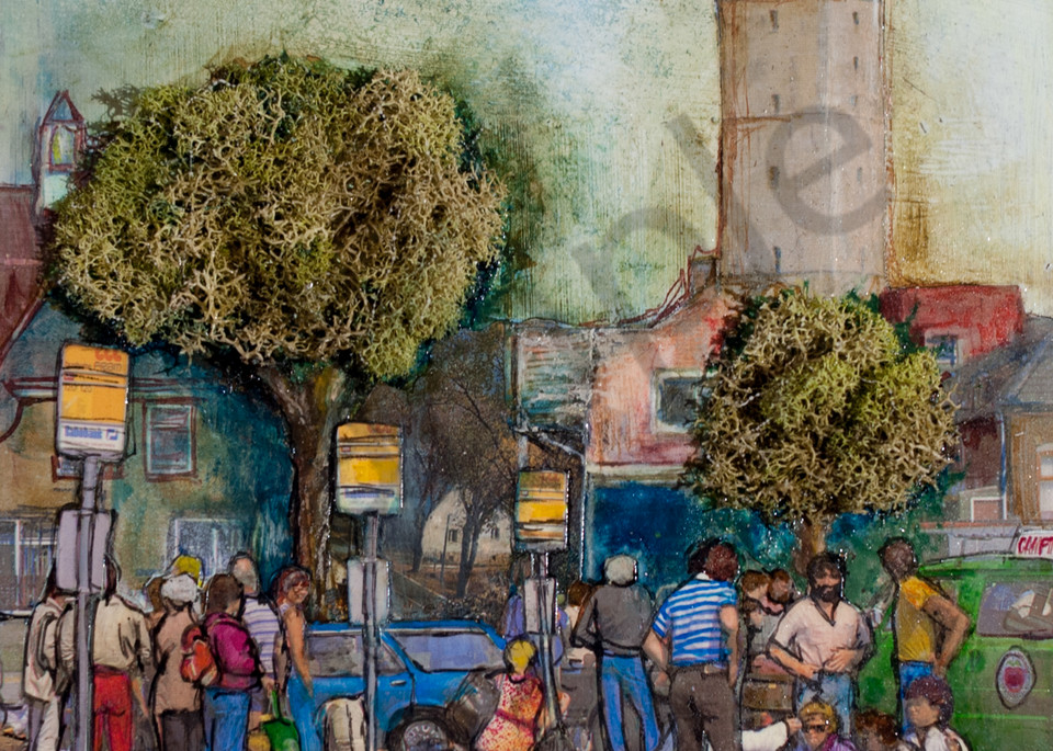 Bus Line Art | Haley Litzinger