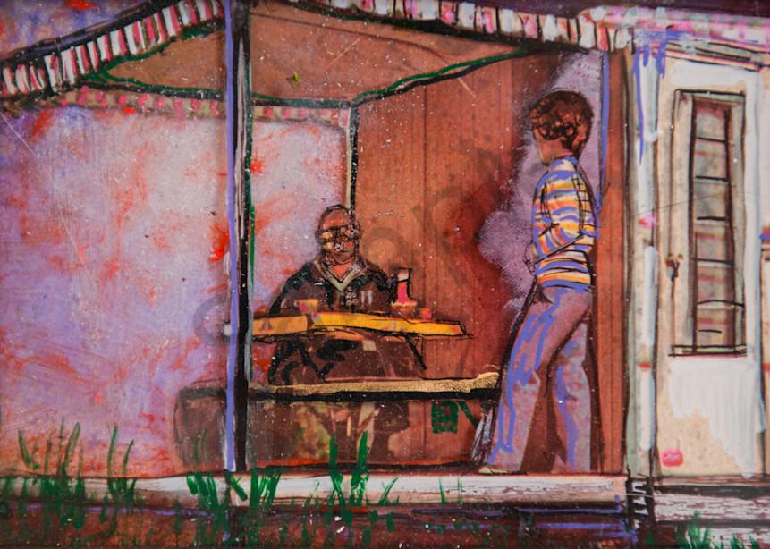 Purple Camp Kitchen Art | Haley Litzinger