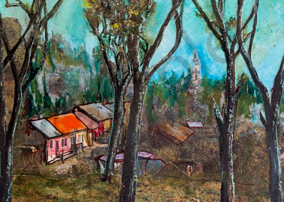 Village With Trees Art   Haley Litzinger