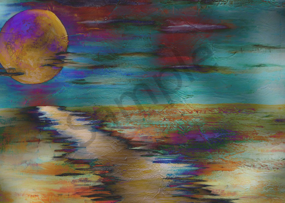 Moon Lake  Art | Art By Dana