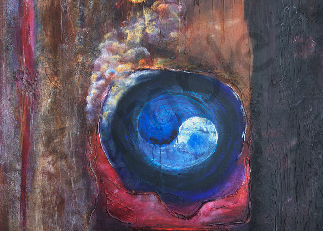 Intuition, abstract, painting, acrylic, chakras, earth-tones, Susan Kraft Art, Zippity Art, paintings,