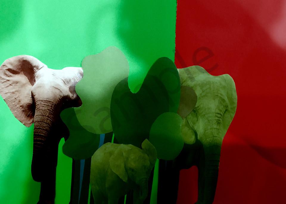 Odeta Xheka Visuals   Art for Kids featuring elephant herd