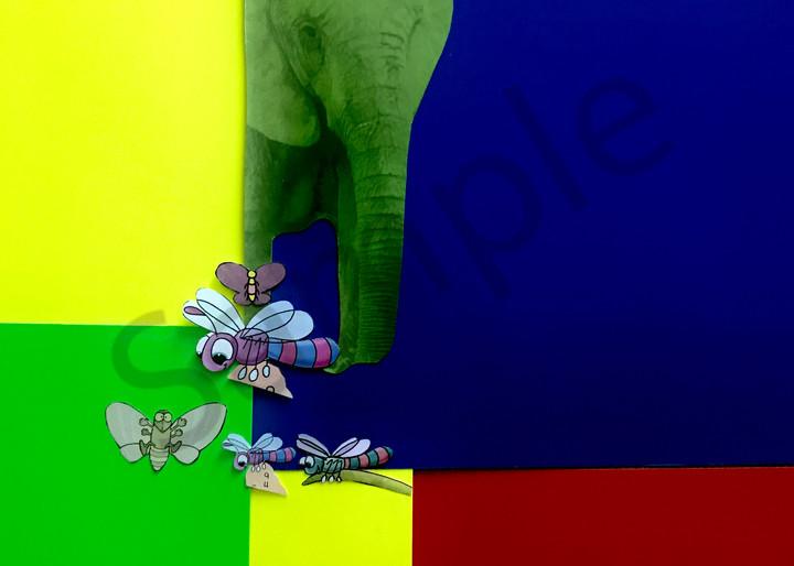 Odeta Xheka Visuals | Art for Kids featuring colorful elephants