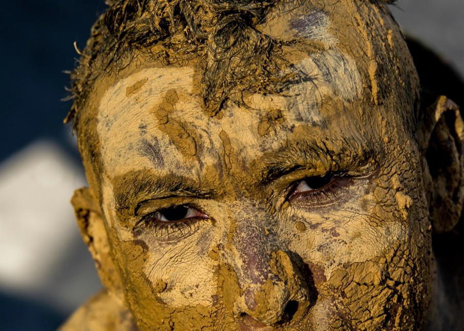 Mud boy portrait - carnival