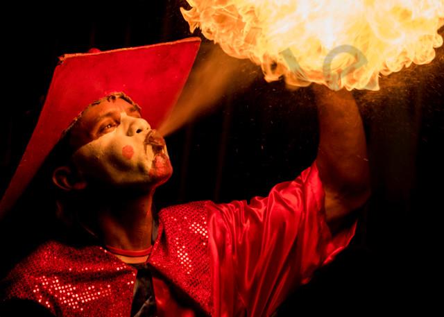 Carnival fire breather