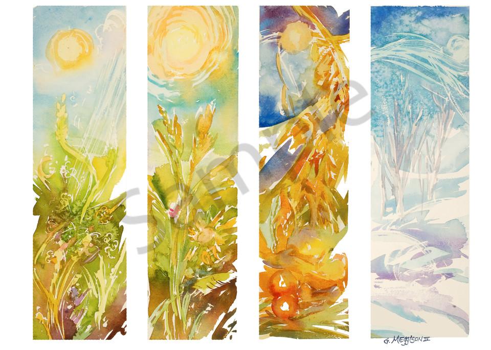 Four Seasons 1 | Watercolor Landscapes | Gordon Meggison IV