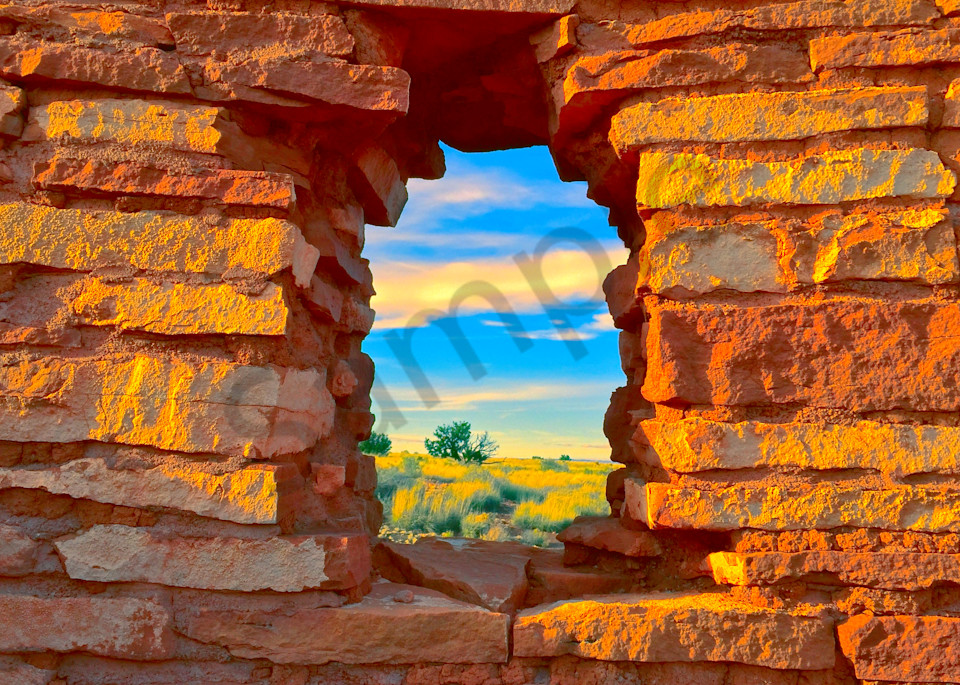 Wupatki Window Scene|Fine Art Photography by Todd Breitling|Landscape Photography|Todd Breitling Art|