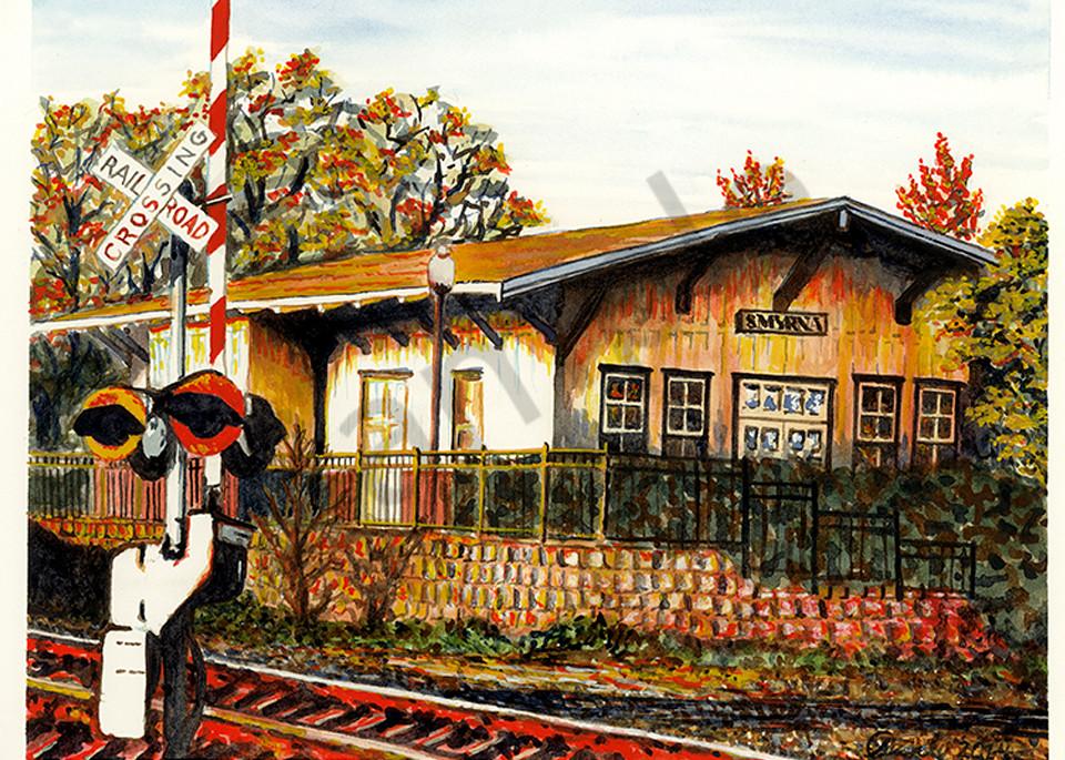 Smyrna Railroad Station Art | Digital Arts Studio / Fine Art Marketplace