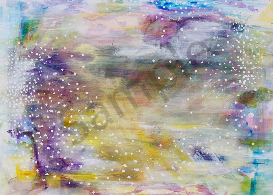 Abstract Painting of golden ray light under with texture and vibrant detail