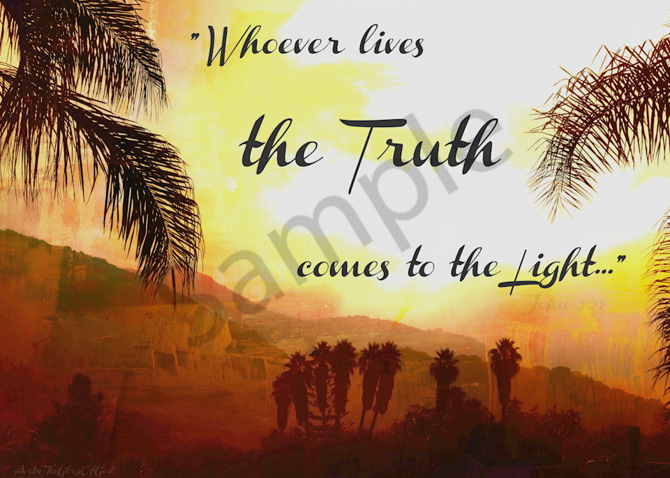 """""""Truth comes to the Light"""" - digital painting photograph"""