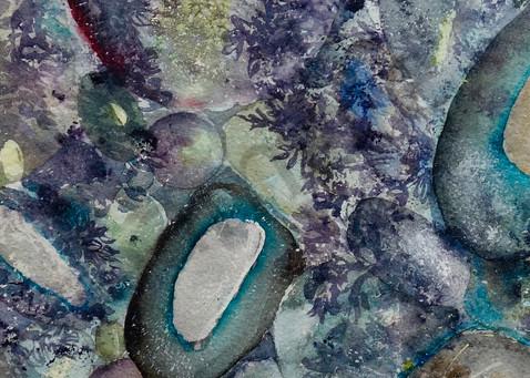 River Rock Triptych, panel 2