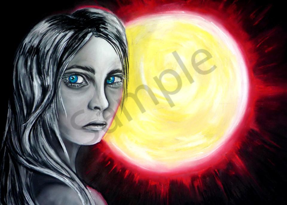 The Red Sun Art | Art By Dana