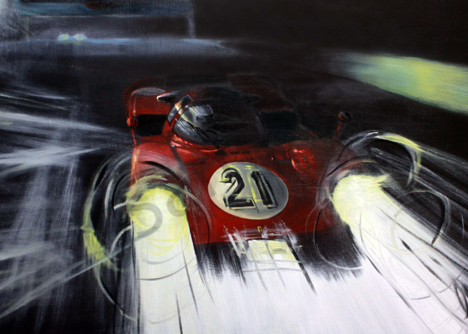 Visions Of The Night – Mario Andretti Art | Motorart 27