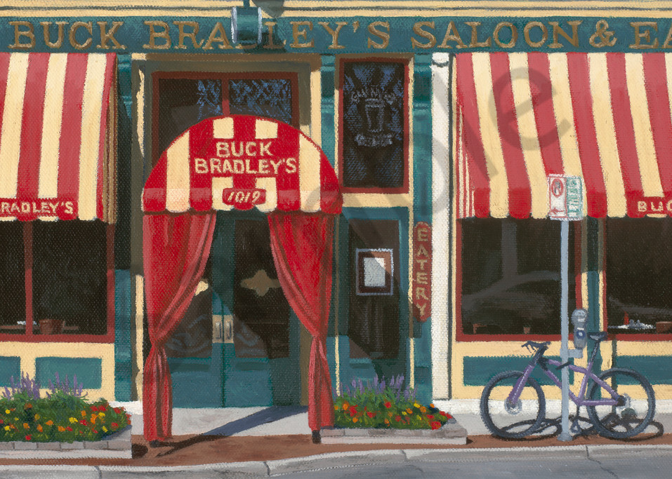 Buck Bradley's Saloon   Milwaukee, WI   Tavern Fine Art Print