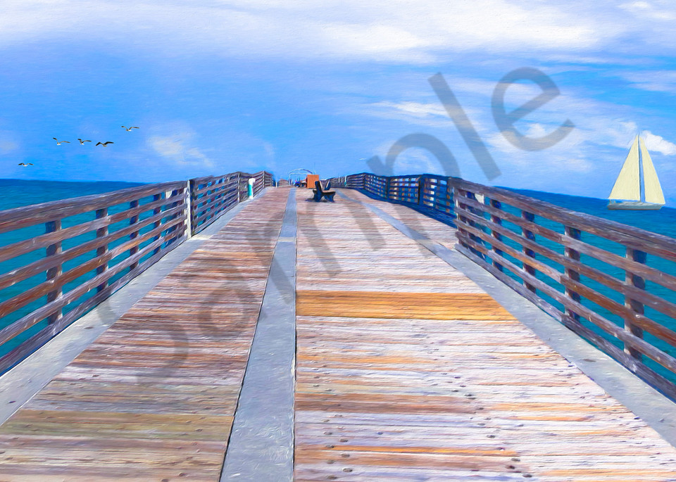 Boating Off The Pier - The Gallery Wrap Store