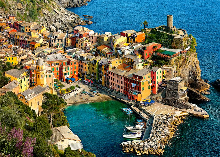 Art Print Vernazza Cinque Terre Italy Hidden beach