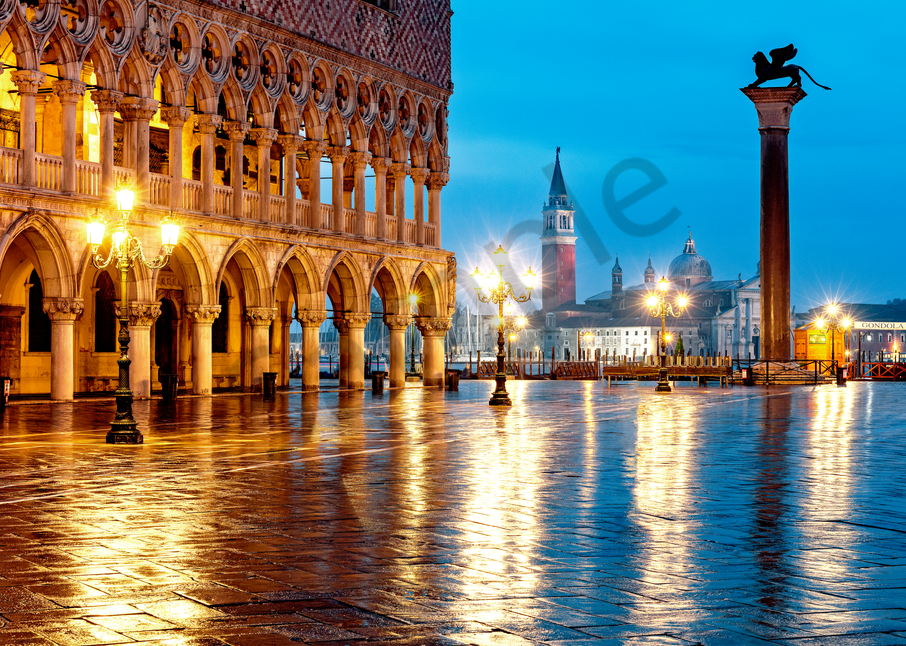 Venice Sunrise and Reflections St. Marks Square: Shop Prints | Louis Cantillo Art