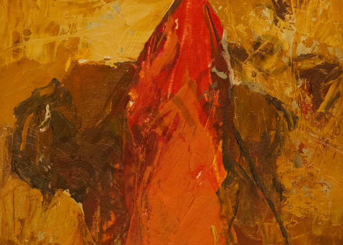 This Is Either A Maasai Man In Yellowstone Or A Bison In Kenya Art | Mary Roberson