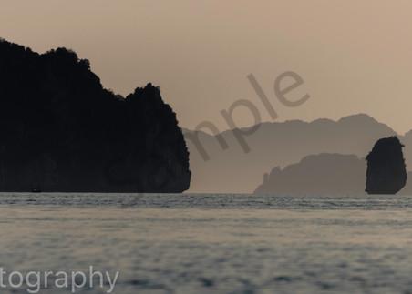 Bai Tu Long Bay Panorama fishing boat