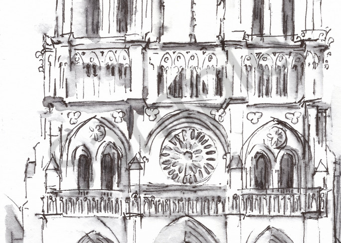 Notre Dame Cathedral Print