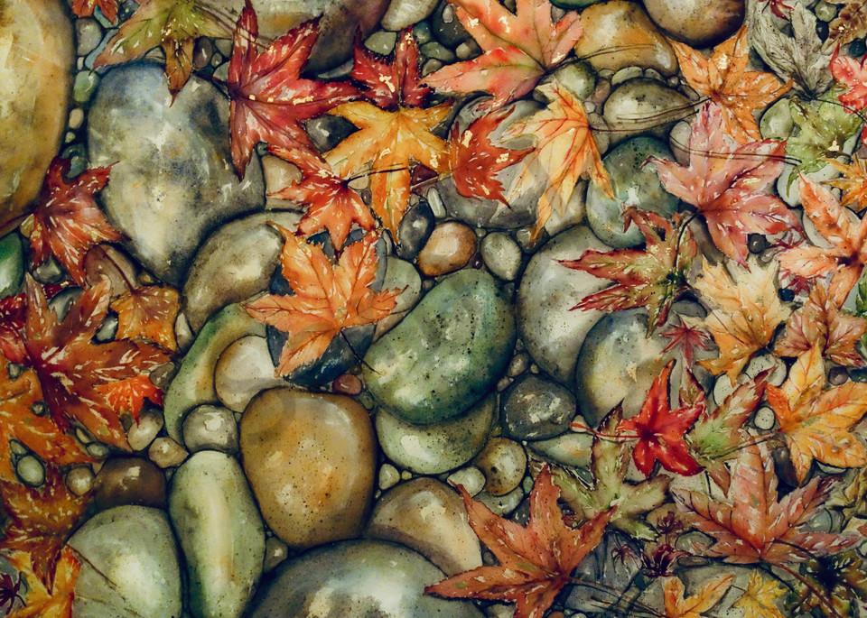Autumn River Rocks Art | Amy Tigner Art