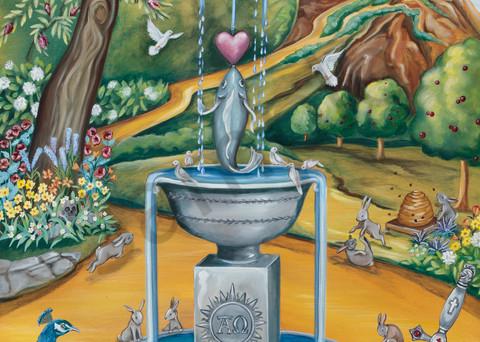 """Vigilance"" by Tennessee artist Wendy L. Wolf / Prophetics Gallery"