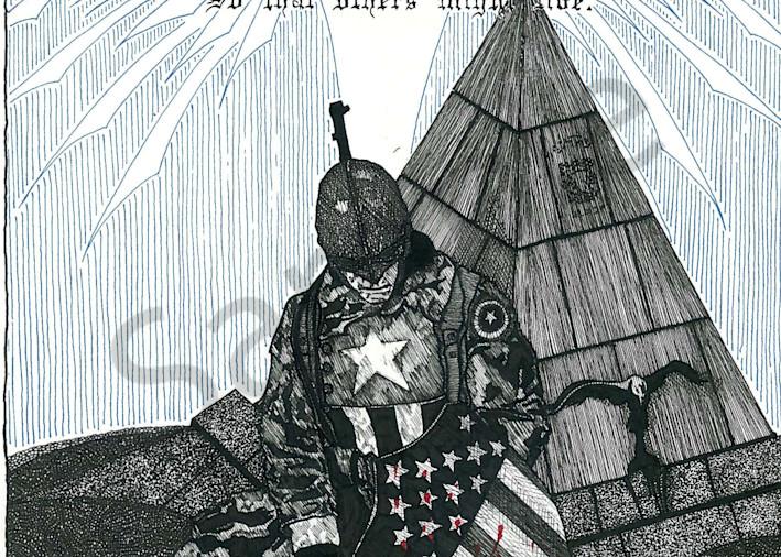 Captain America at the Coast Guard Memorial