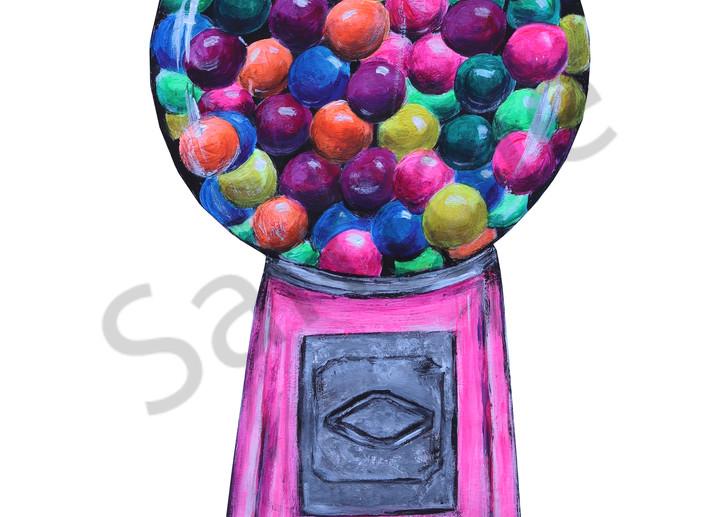Bubble Gum Machine Art | Art By Dana