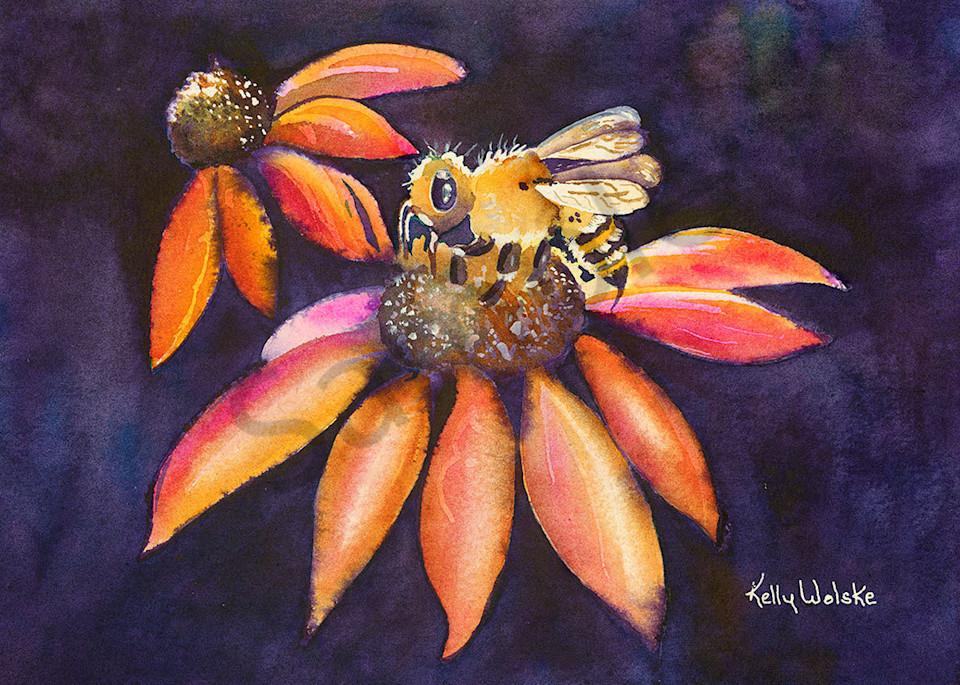 """""""In Honor Of The Bee"""" fine art print by Kelly Wolske."""