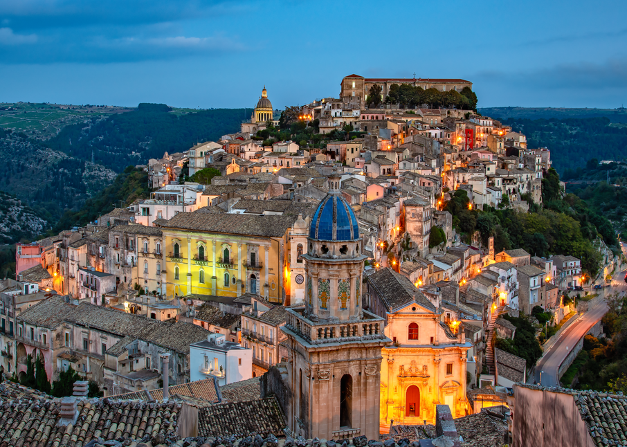 UNESCO World Heritage Site,  Baroque buildings, John the Baptist, Ragusa Ibla, Sicily, Italy, Island