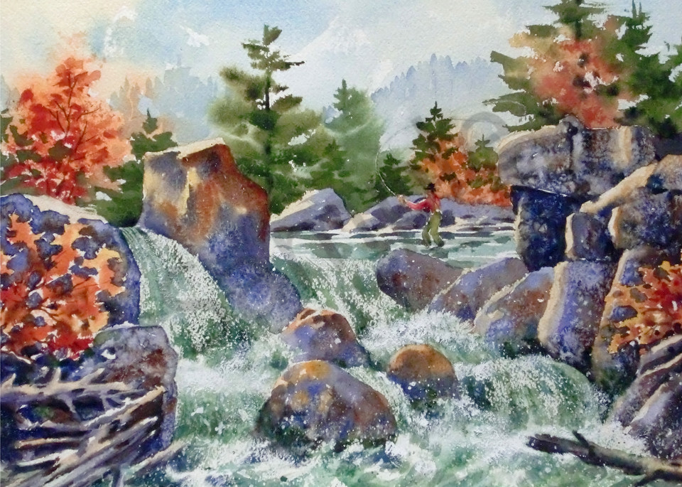 """At The Top Of The Falls"" by Colorado Artist Jean Pierre DeBernay | Prophetics Gallery"
