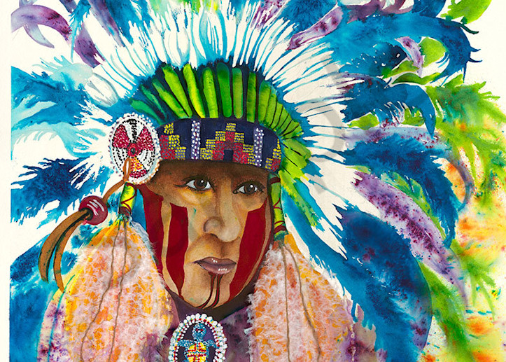 """Chief Spirit Wolf"" fine art print by Kelly Wolske."