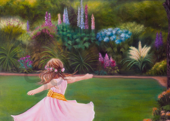 """""""In My Father's Garden"""" by Canadian Artist Jeanette Sthamann 
