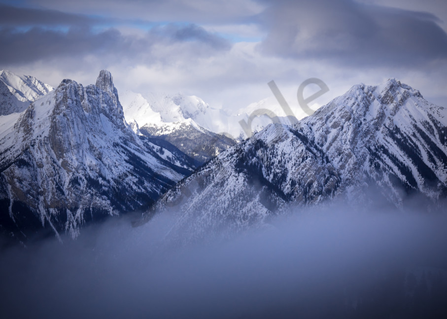 Canadian Rockies Winter Photograph for Sale as Fine Art