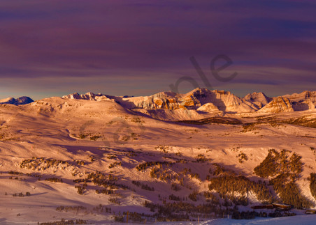 The Great Divide of the Canadian Rockies in winter.Banff National Park|Rocky Mountains|