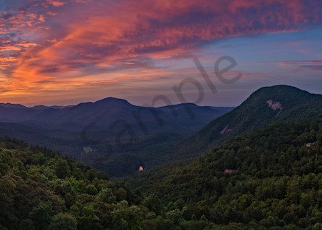 Cullasaja Club, Overlook At Dawn, Highlands, North Carolina Photography Art | Dave Sansom Photography LLC
