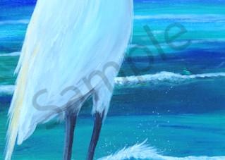 Egret Harvest Art   Shore Paintings