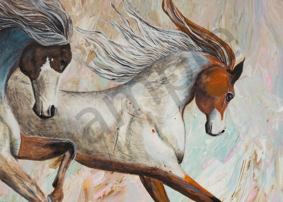"""Horses"" by German Artist Angela Günther | Prophetics Gallery"