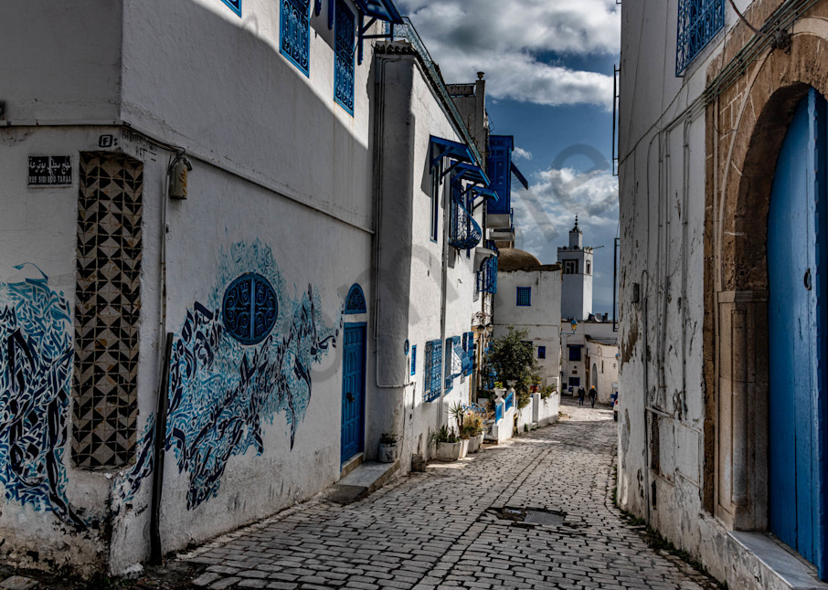 Blue city graffiti