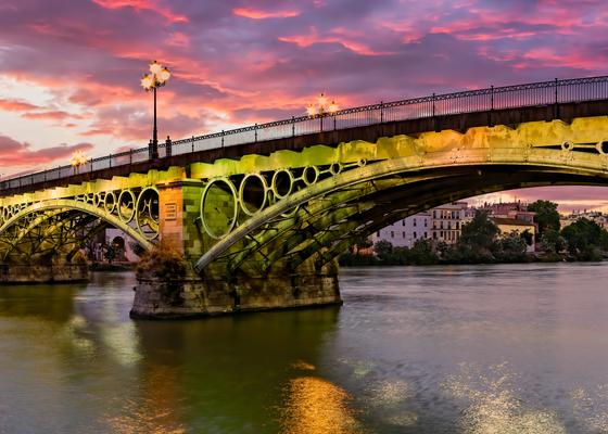 Art Print Seville Spain Triana Bridge